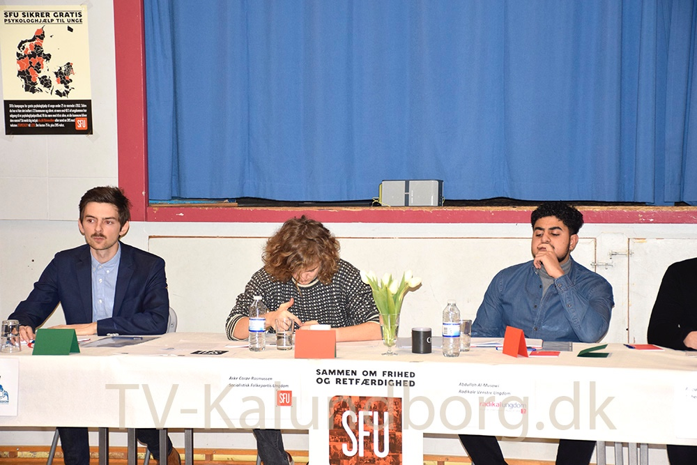 Seks ungdomspolitiske partier var til paneldebat på Gørlev Skole i dag i forbindelse med skolevalg.