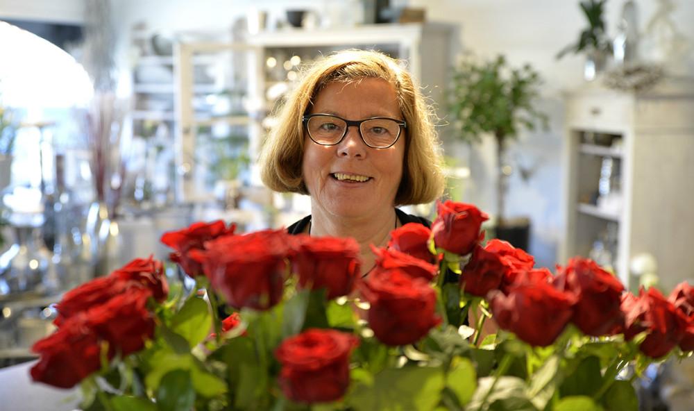 Blomsterdekoratør Kirsten Stampe Jensen. Foto: Jens Nielsen