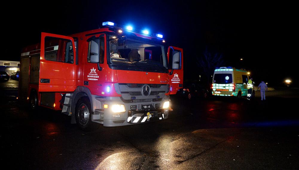 Brandvæsen og ambulance blev igen kaldt til brand på Klosterparkvej. Foto: Jens Nielsen