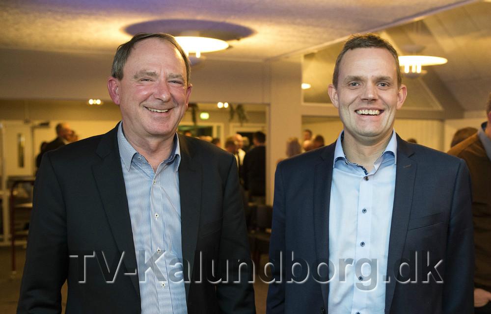 Havnedirektør Bent Rasmussen og bestyrelsesformandJakob Beck Jensen. Foto: Jens Nielsen