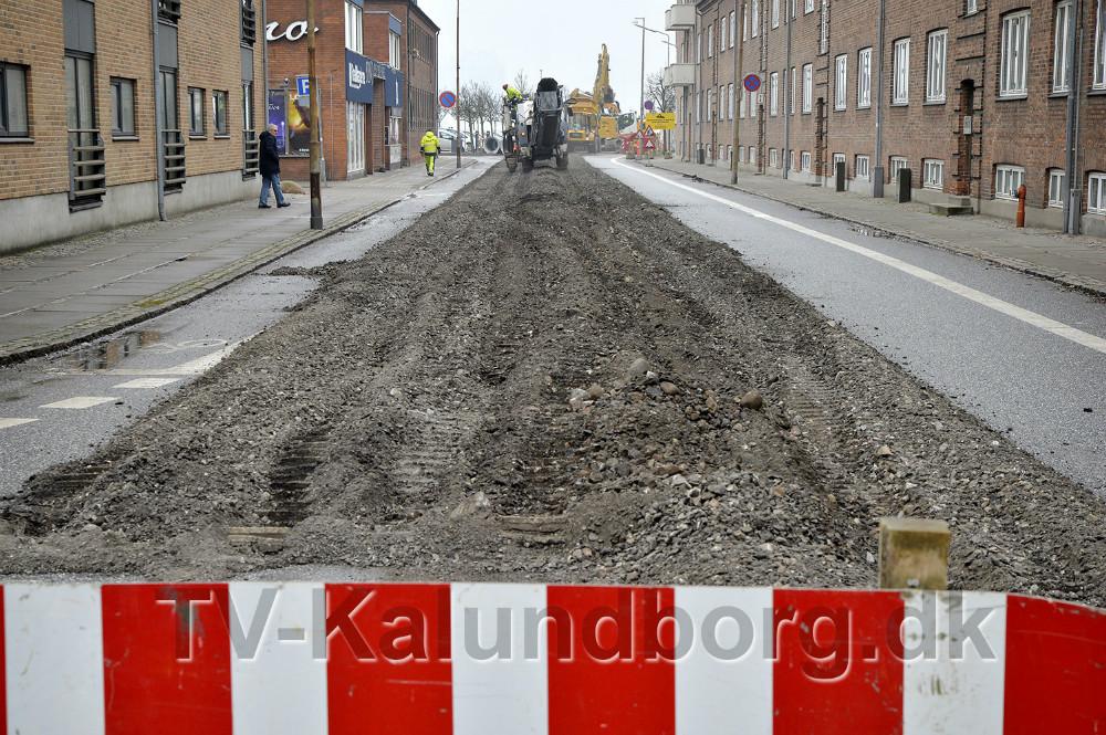 Vænget i Kalundborg er nu helt spærret for trafik. Foto: Jens Nielsen