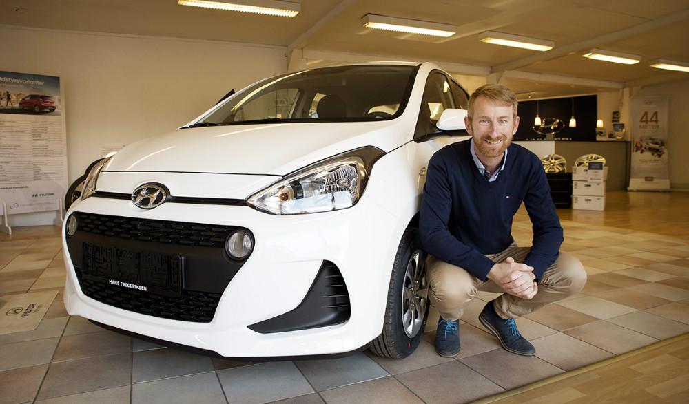 Den faceliftede Hyundai i10 præsenteres af Brian D. Holse. Foto: Jens Nielsen