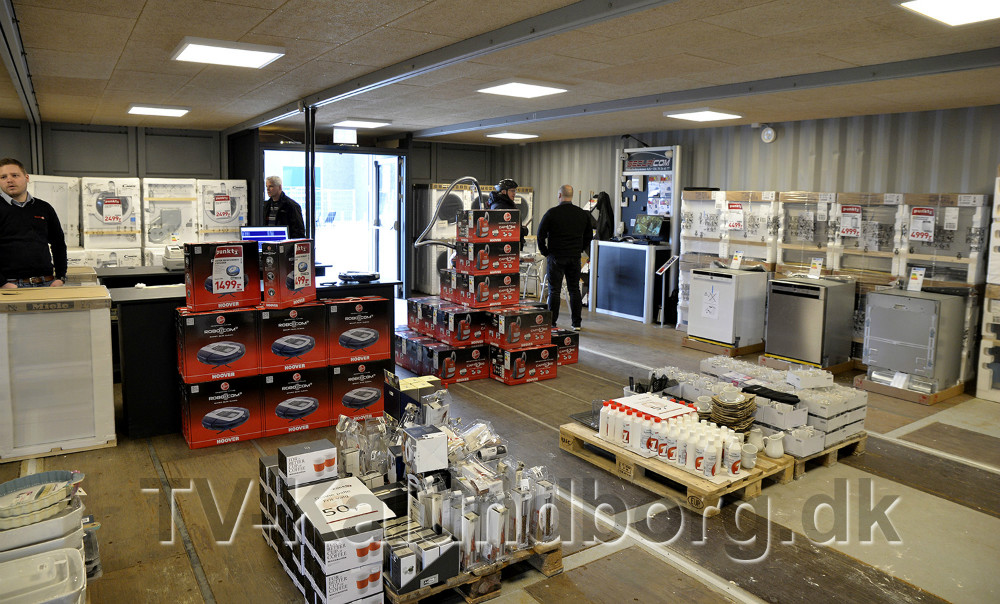 Den nye outlet forretning på Stejlhøj er åbnet. Foto: Jens Nielsen