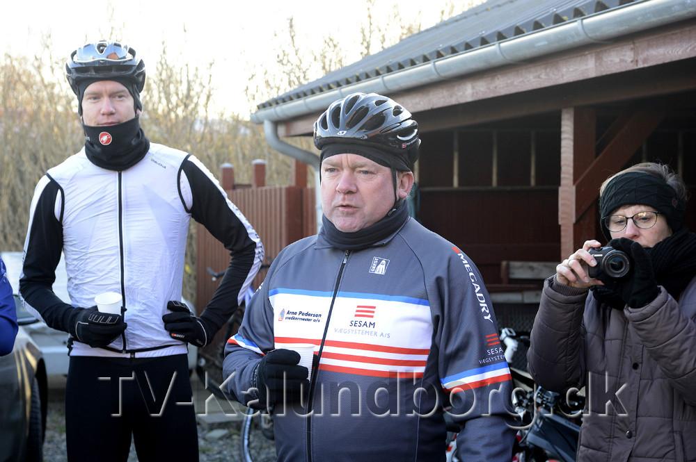 Formand Peter Henriksen ønskede godt nytår. Foto Jens Nielsen