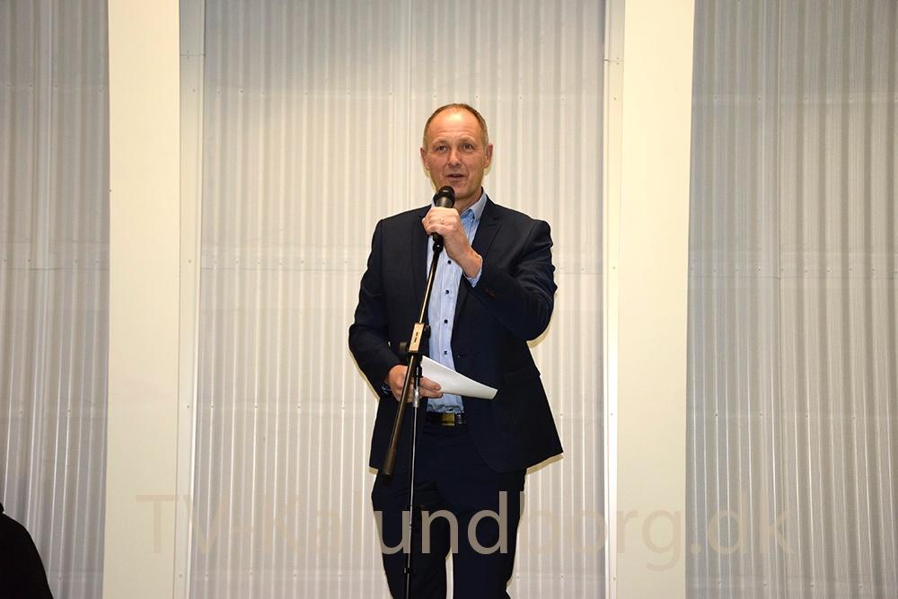 Borgmester Martin Damm (V) holdte bl.a. indvielsestalen på Spiralen. Foto: Gitte Korsgaard.