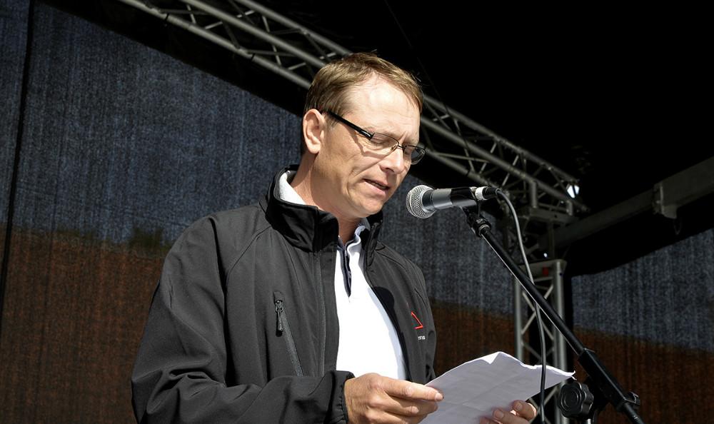 formand for ældre- og sundhedsudvalget Peter Jacobsen, det holdte åbningstalen. Foto: Jens Nielsen