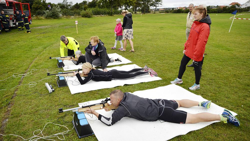 Biathlon på Gisseløre, søndag. Foto: Jens Nielsen