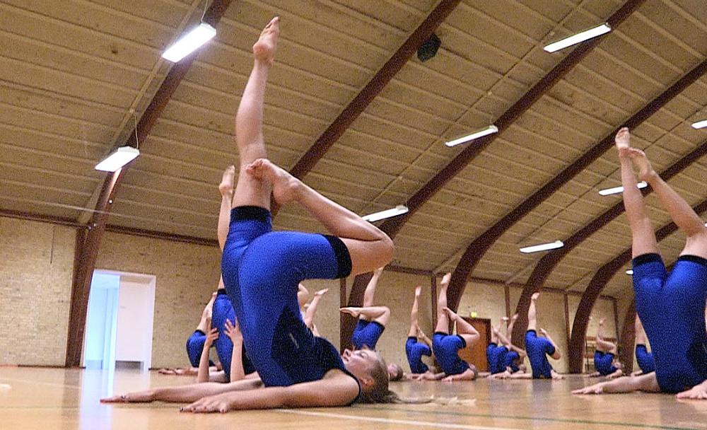 Gymnastik i TGU. Arkivfoto: jens Nielsen.