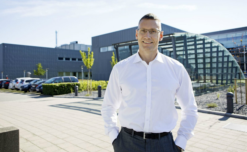 Michael Hallgren, produktionsdirektør Novo Nordisk Kalundborg.