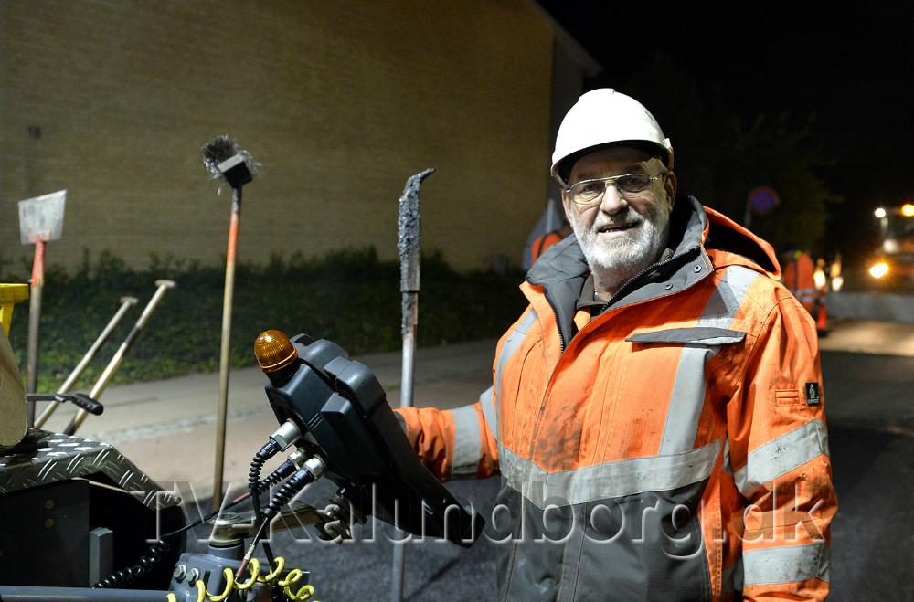 Peter Larsen har 43 års erfaring med asfaltarbejde. Foto: Jens Nielsen