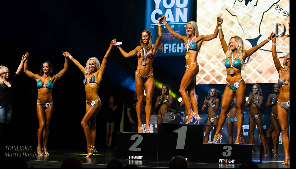 Trine Louise Larsen vandt sølv til DM i Biniki Fitness Master  352016