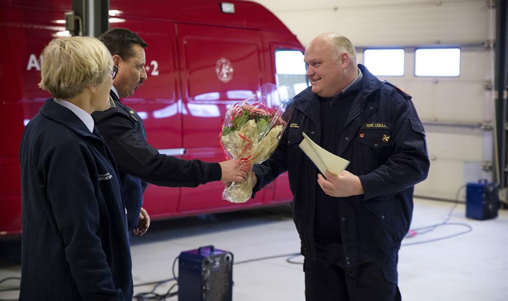 20-års tegn til Rene Cebula. Foto: Jens Nielsen