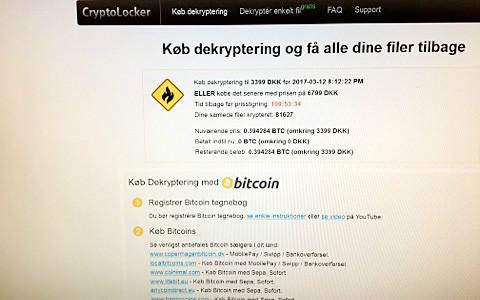 Hackerne forlanger penge for at virksomhederne kan få deres filer tilbage. Foto: Kalundborgegnens Erhvervsråd