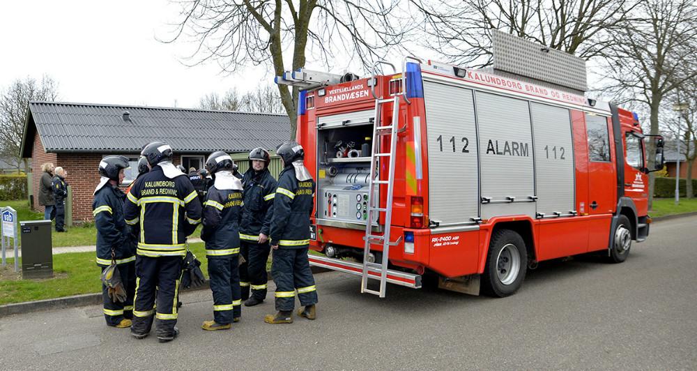 Brand på Egetoften i Gørlev, lørdag eftermiddag. Foto: Jens Nielsen