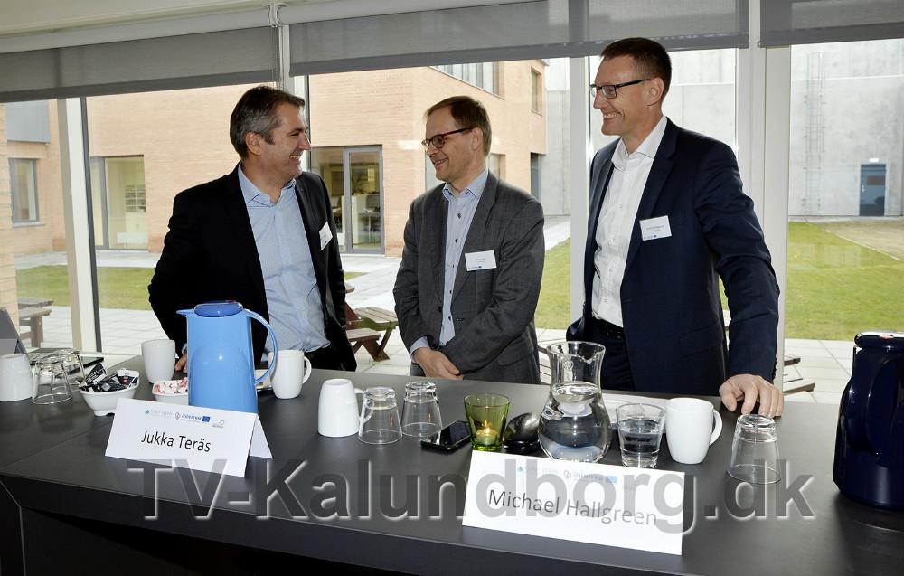 Fra venstre, Michel van der Linden, direktør, Kalundborg Kommune, Jukka Teräs, Ph.D. MBA. Senior Research Fellow, Nordregio, Stockholm og Mikael Hallgreen, direktør i Novo Nordisk. Foto: Jens Nielsen