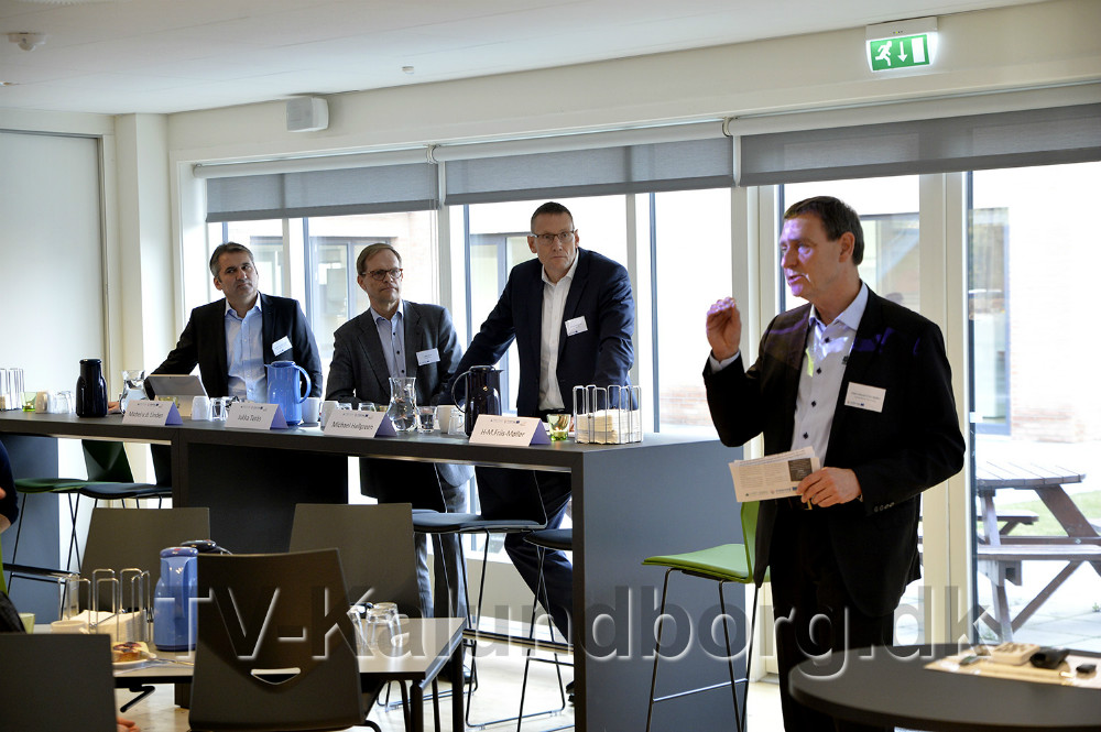 Hans-Martin Friis Møller, direktør, Kalundborg Forsyning, bød de mange gæster velkommen. Foto: Jens Nieslen