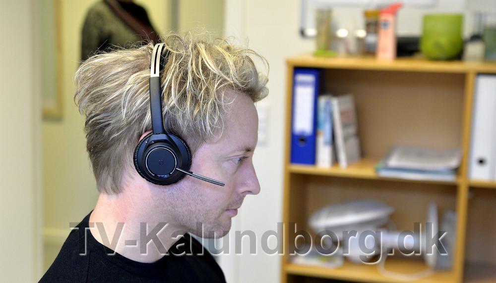Telefonerne virker nu igennem computeren. Foto: Jens Nielsen
