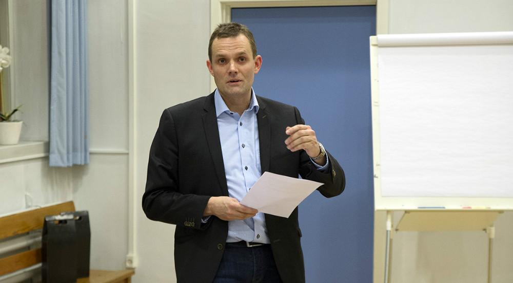 Formand Jakob Beck Jensen aflagde bestyrelsens beretning. Foto: Jens Nielsen