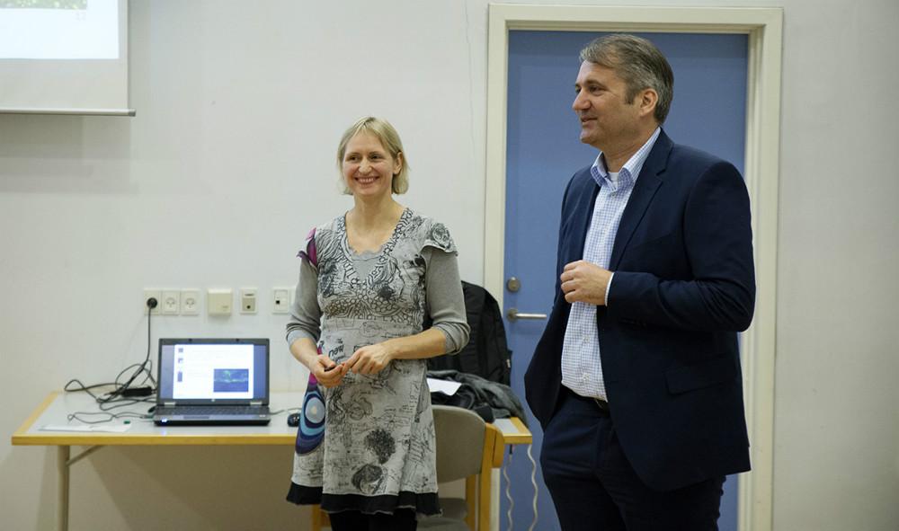 Landskabsarkitekt Birgitte Koefod Møller og Michel van der Linden, direktør i Kalundborg Kommune, var med til generalforsamlingen. Foto: Jens Nielsen