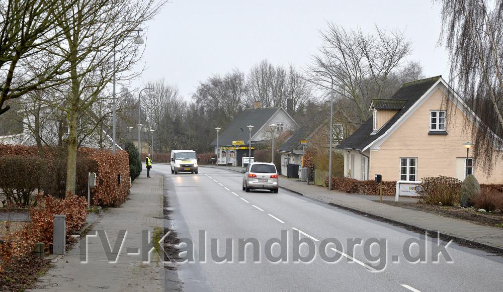 Der køres for stærkt på Hovedgaden i Ubby, det skal der nu gøres noget ved. Foto: Jens Nielsen