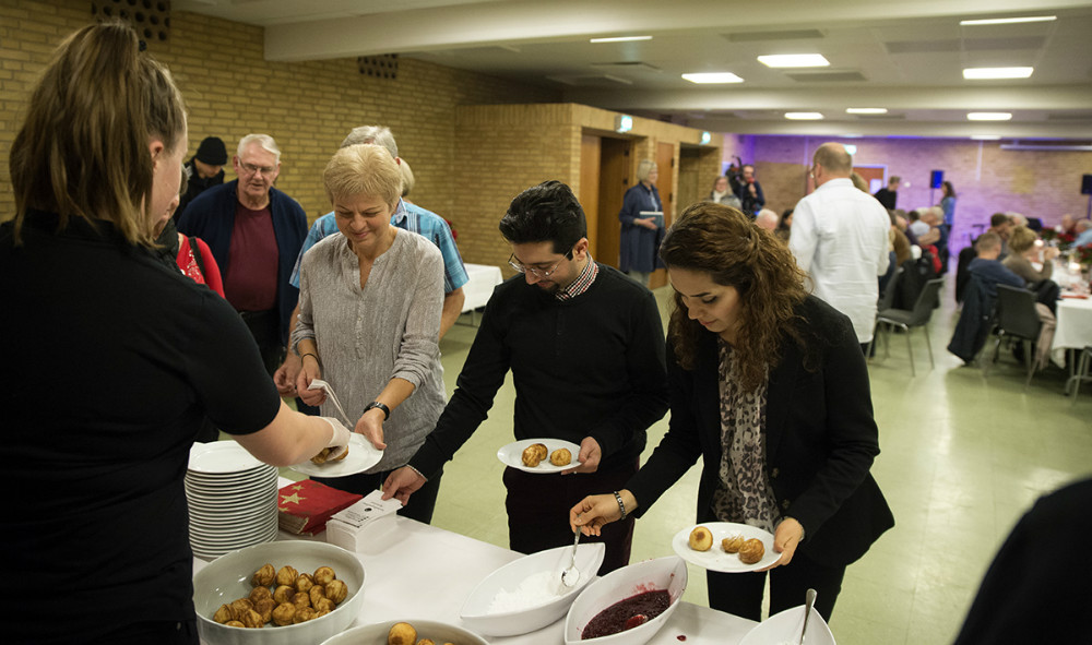 Der var bl.a. gløgg og æbleskiver til deltagerne. Foto: Jens Nielsen
