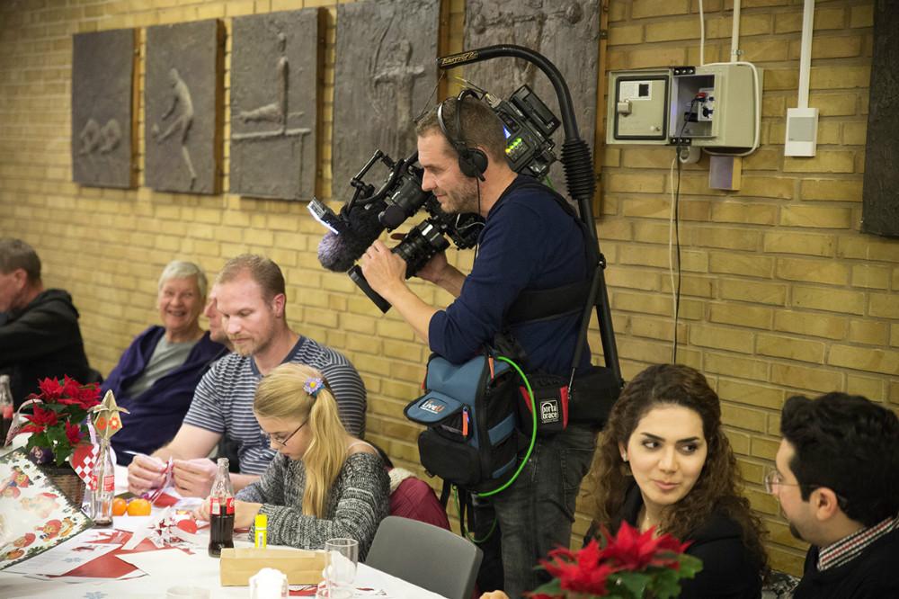 TV Øst sendte fra mødet. Foto: Jens Nielsen
