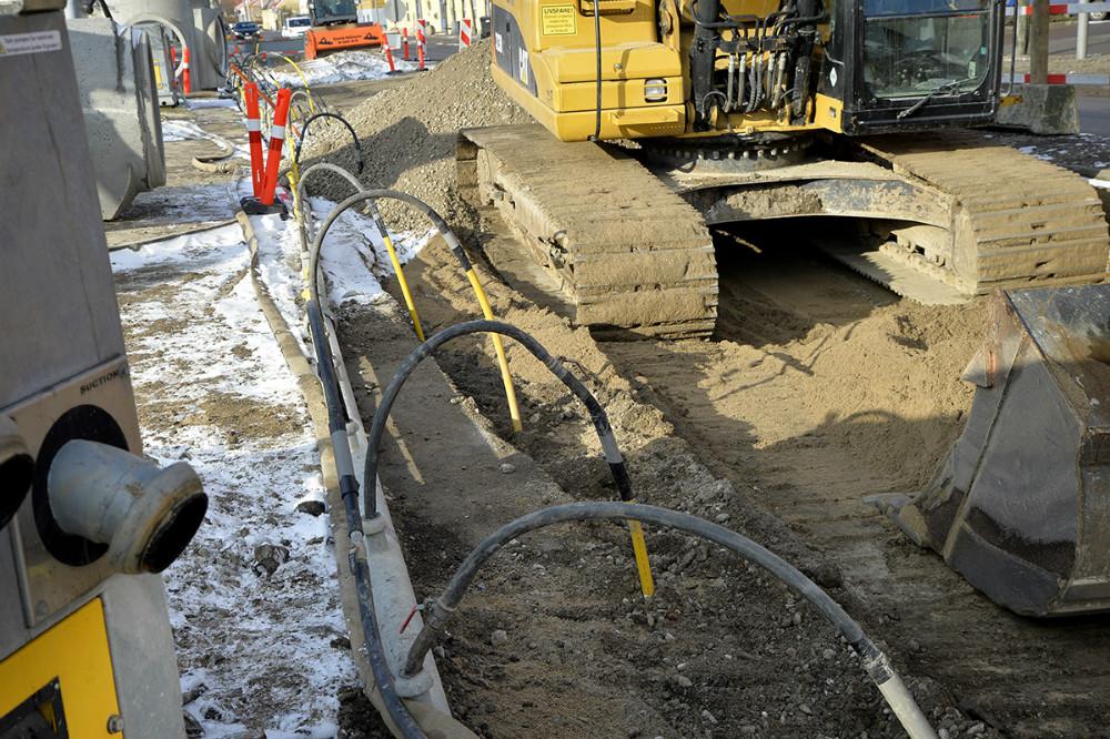 Et sugespidsanlæg skal holde jorden tør. Foto: Jens Nielsen