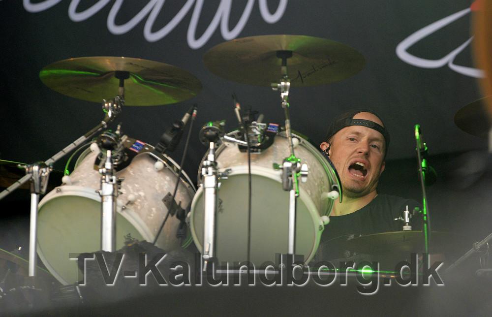 Martin Bidstup Pedersen, på trommer. Foto: Jens Nielsen