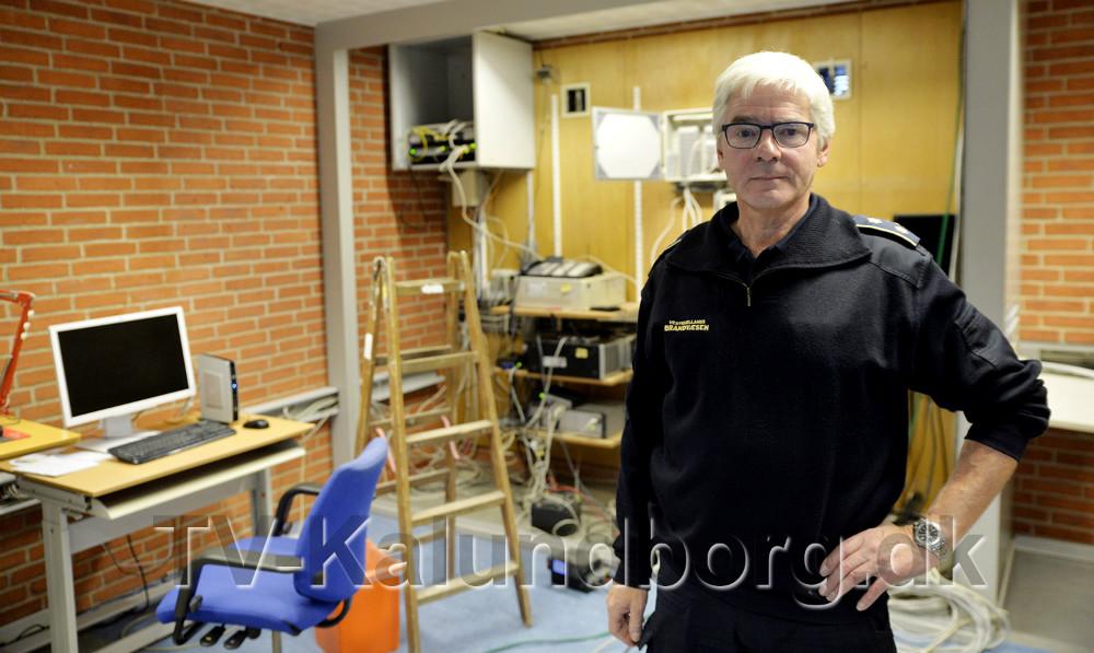 Sekretariatsleder Sven Urban Hansen, Vestsjællands Brandvæsen i det som bliver den nye vagtcentral. Foto: Jens Nielsen