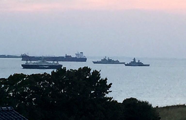 NATO øvelse i Kalundborg Fjord. Foto: Jette Feldthaus.