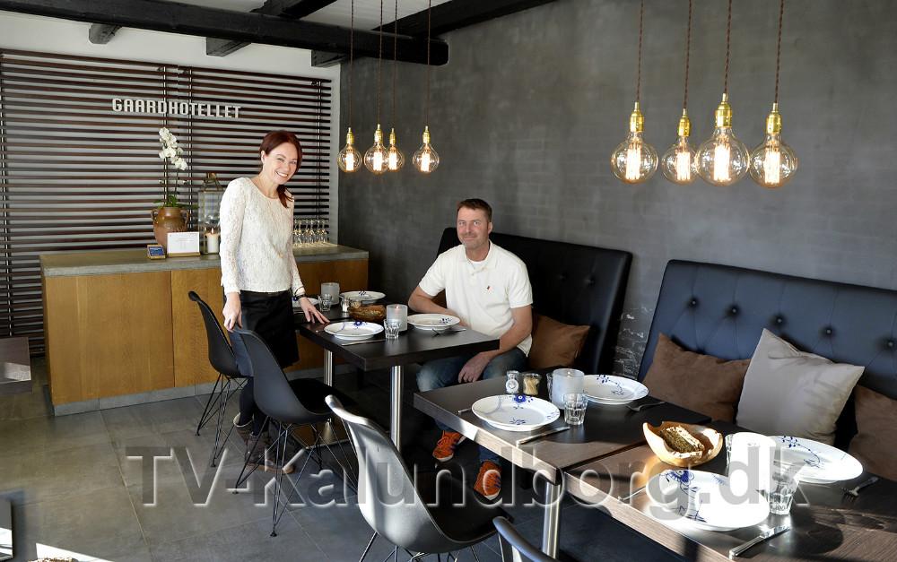 Charlotte og Eskild Junge, indehaver af Gaardhotellet i Kalundborg. Foto: Jens Nielsen