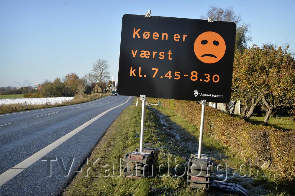Store skilte er sat op ved indfaldsvejen til Kalundborg. Foto: Jens Nielsen