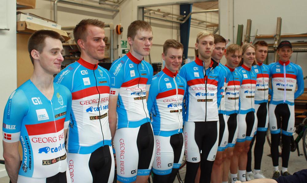 Team Georg Berg Cycling Elites 11 ryttere blev præsenteret lørdag i Slagelse. Foto: Christian Winnem