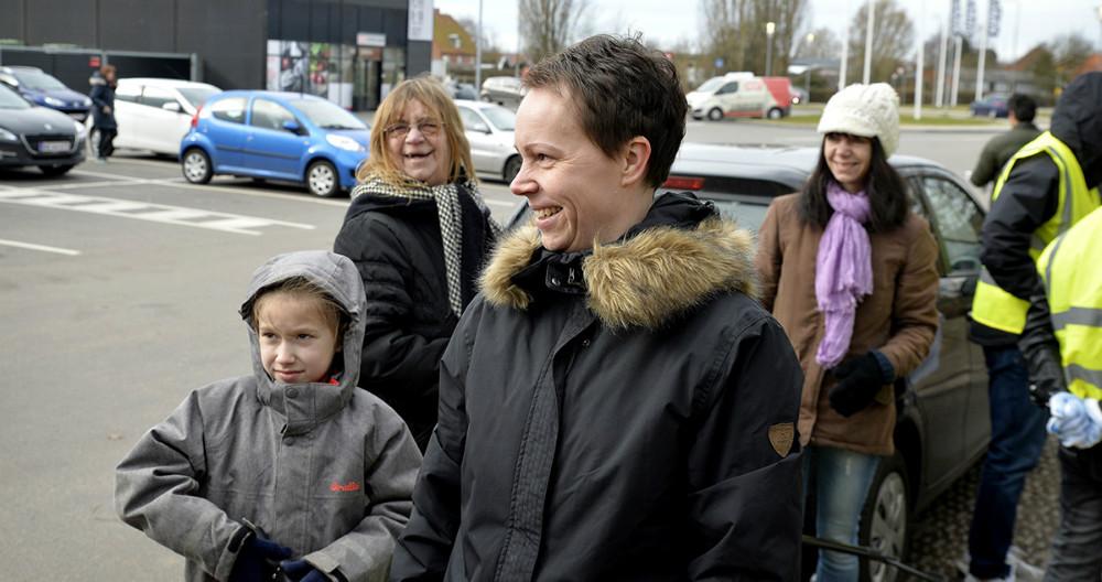 Tanja Døj i spidsen for skraldindsamlingen. Foto: Jens Nielsen