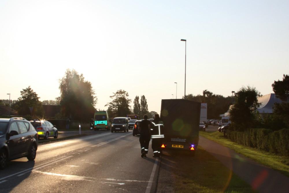 Trafikulykke på Slagelsevej ved Lyngparken. Foto: Gitte Korsgaard.