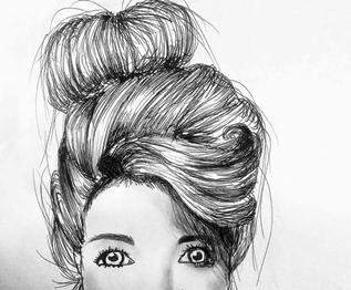 Tegning af Emilie Glad.