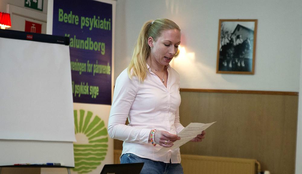 Stefanie Dybro Vels, en af forældrene som fortalte sin historie. Foto: Jens Nielsen