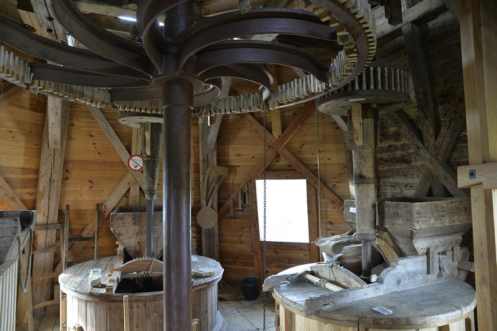Maskinrummet på Ulstrup Mølle. Foto: Jens Nielsen
