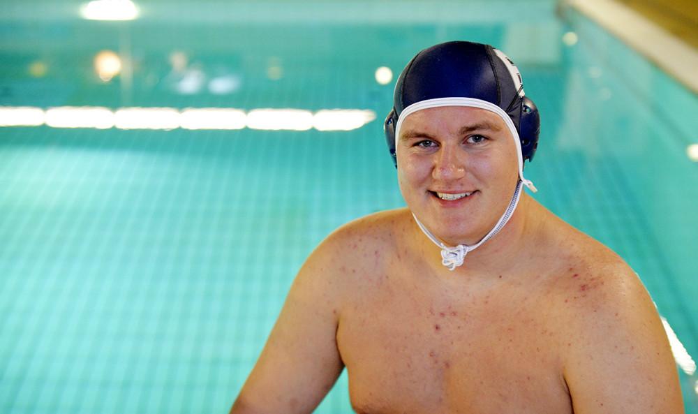 Mads Peter Hansen er påpå U21 landsholdet i undervandsrygby. Foto: Jens Nielsen