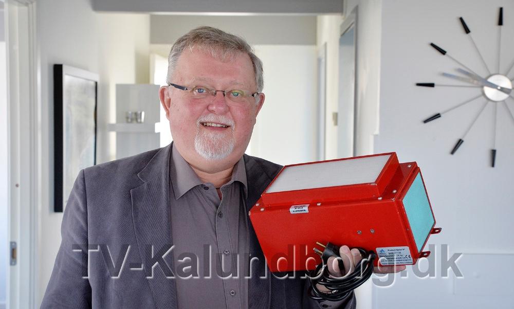 Bjarne Jensens luftrensningsmaskine fra Airmanager Technologies, designet til brandbiler/stationer. Foto: Jens Nielsen