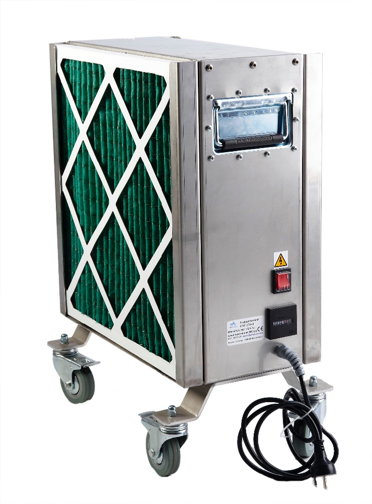 Maskine fra Airmanager Technologies, der renser luften. Foto: Jens Nielsen.