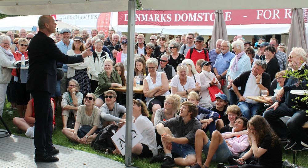 Andreas Bo i Kalundborg teltet på Folkemødet. Privatfoto