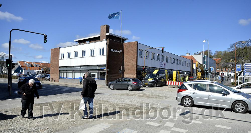 Den nordlige halvdel af Bredgade skal spærres for trafik. Foto: Jens Nielsen
