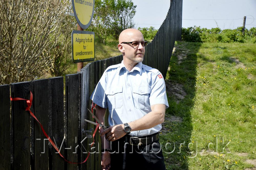 Stationsleder Mogens Gotlob klippede den røde snor. Foto: Jens Nielsen