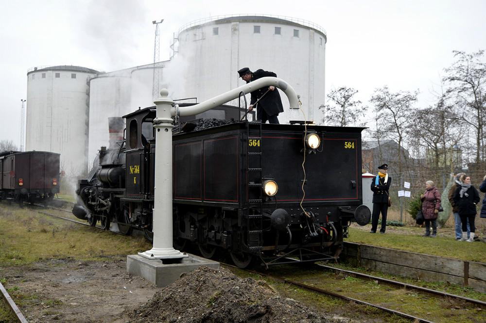 Den nye ´vandkran´ blev afprøvet for første gang. Foto: Jens Nielsen