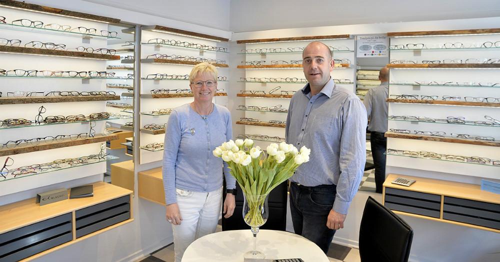 Susanne Engholm og Michael Korsgaard, indehavere af Alfa Optik. Foto: Jens Nielsen