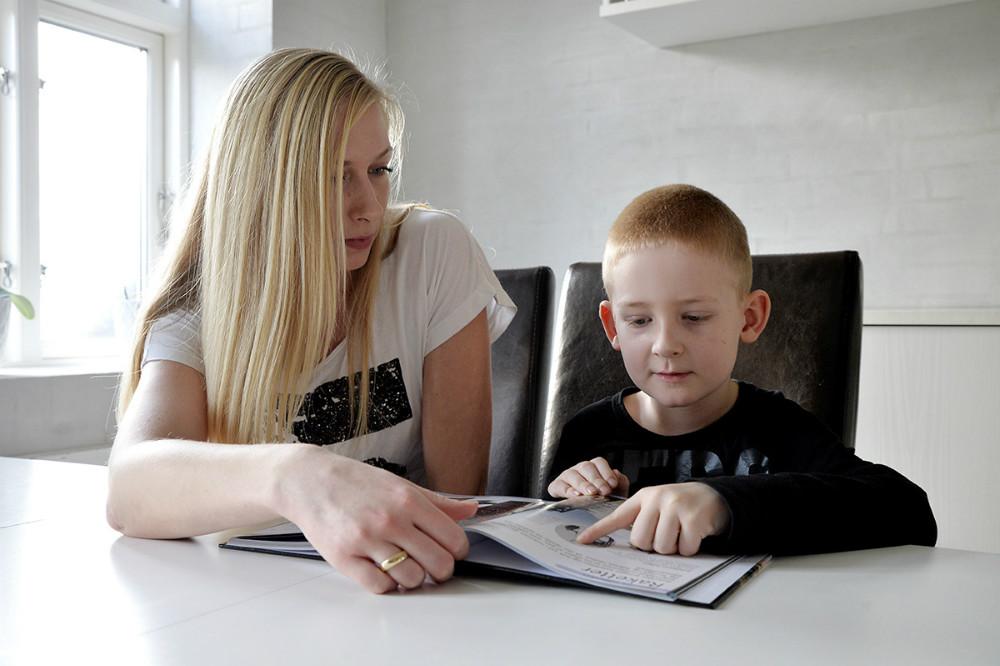 William sammen med sin morStefanie Dybro Vels. Foto: Jens Nielsen