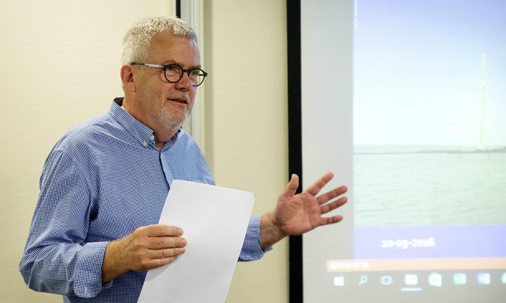 Formand Henrik Petersson aflagde beretningen. Foto: Jens Nielsen
