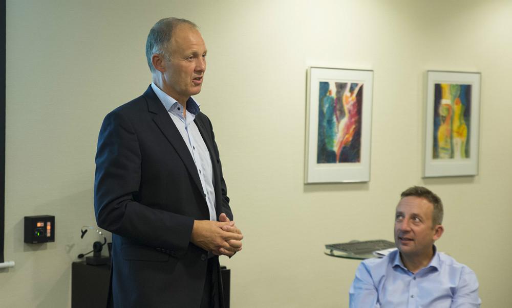 Borgmester Martin Damm var inviteret med til Handelstandsforeningens generalforsamling. Foto: Jens Nielsen