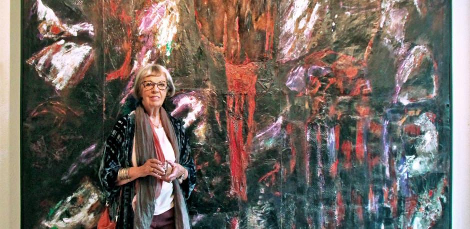Væver og billedkunstner Grete Balle.